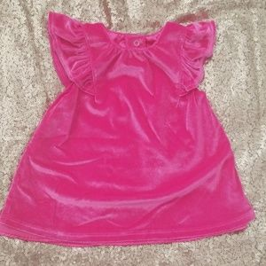 Hot Pink Velvet Infant Dress